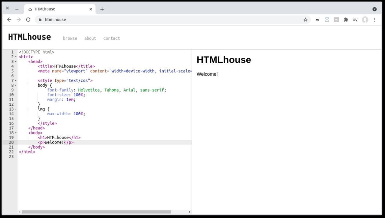 HTMLhouse screenshot