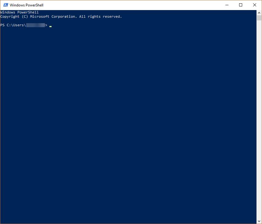 Windows Powershell บน Windows 10
