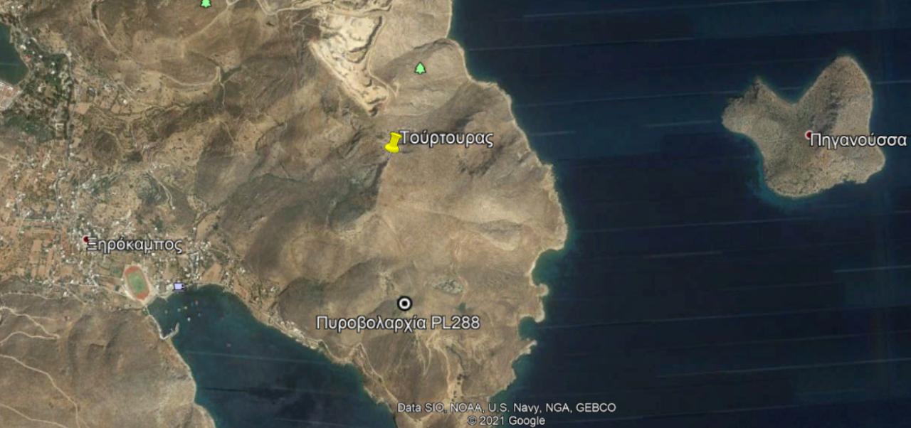 Η θέση του Τούρτουρα στον χάρτη