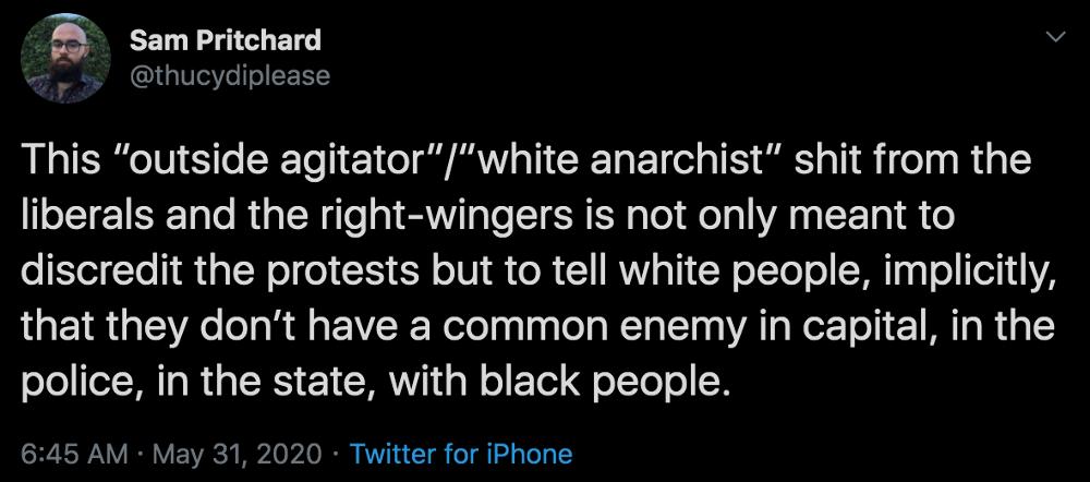 Sam Pritchard Twitter Quote 1