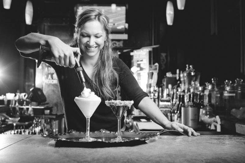 Stephany Gordon, mixologist at SoHo Wine and Martini Bar.