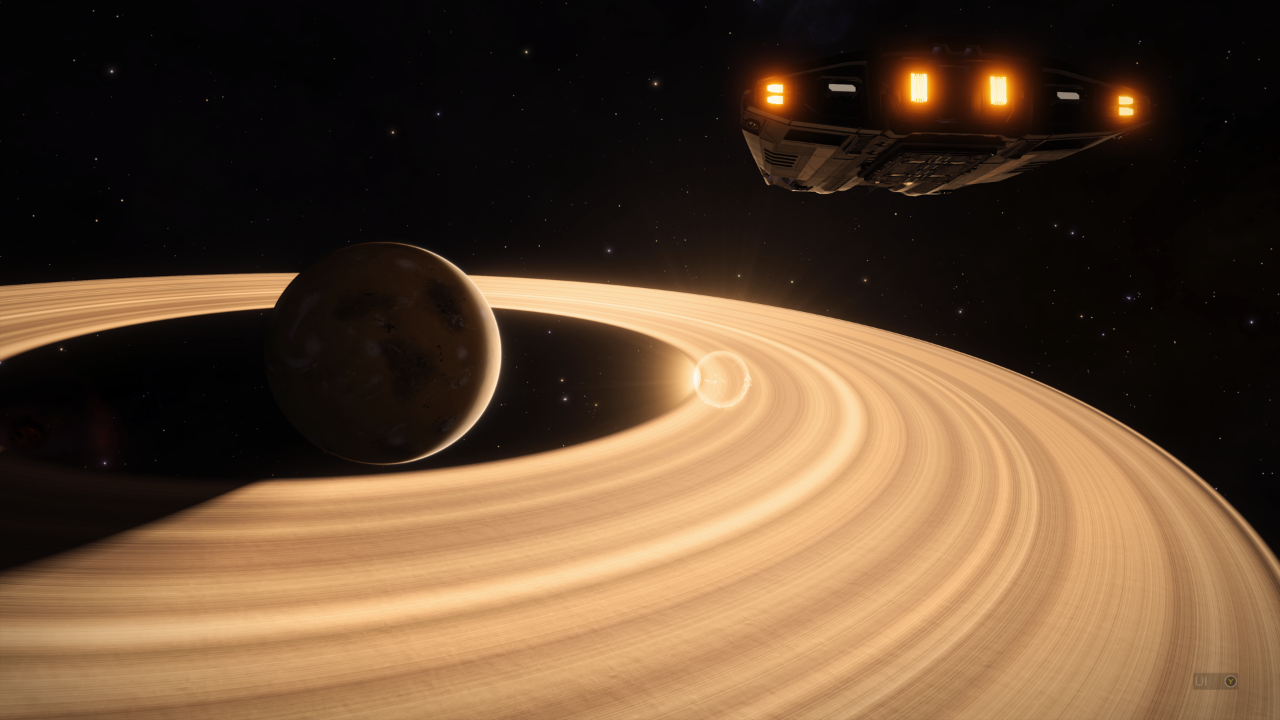 Elite Dangerous - getting close to a planet.
