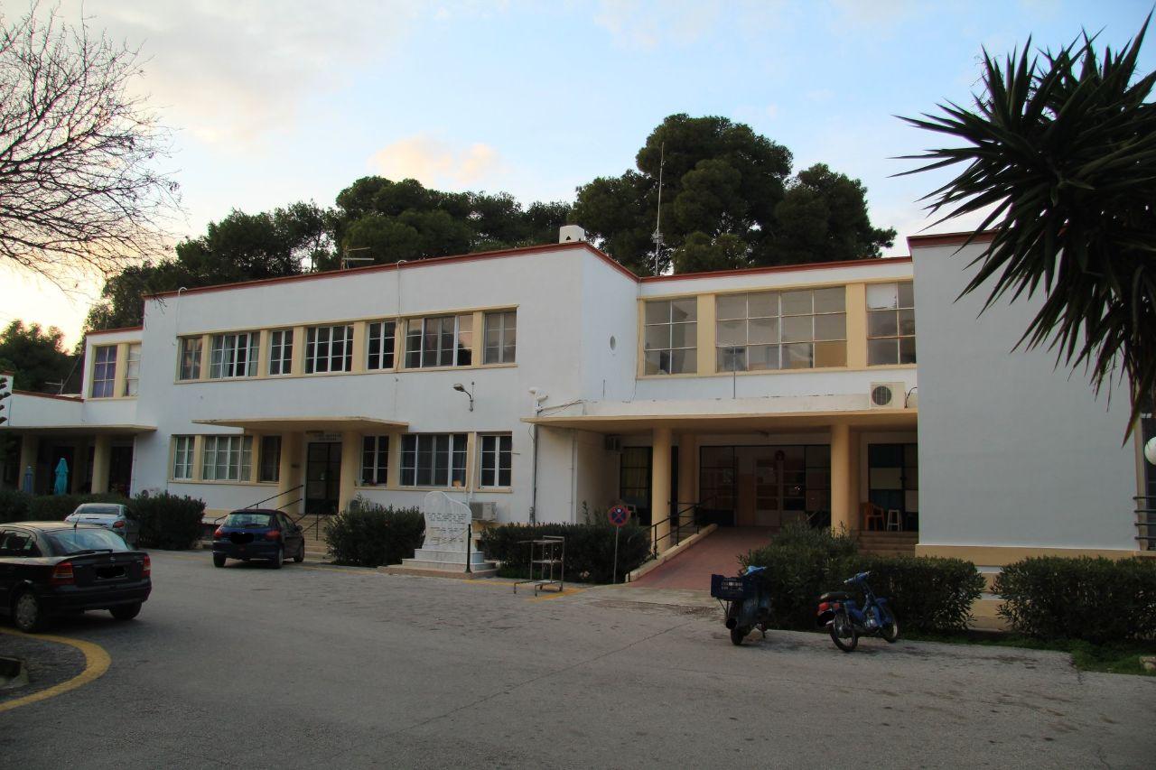 Η κεντρική είσοδος του ιταλικού νοσοκομείου.