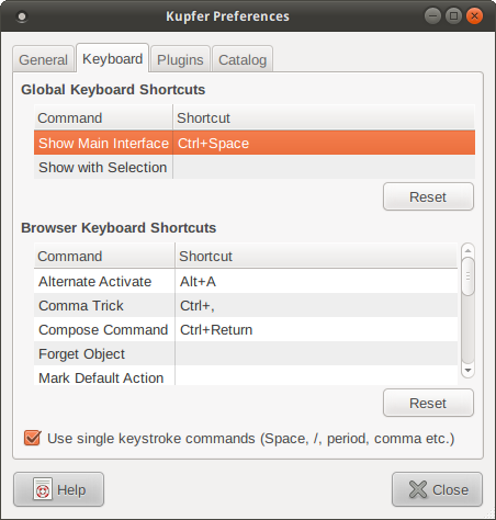 Kupfer's keyboard preferences