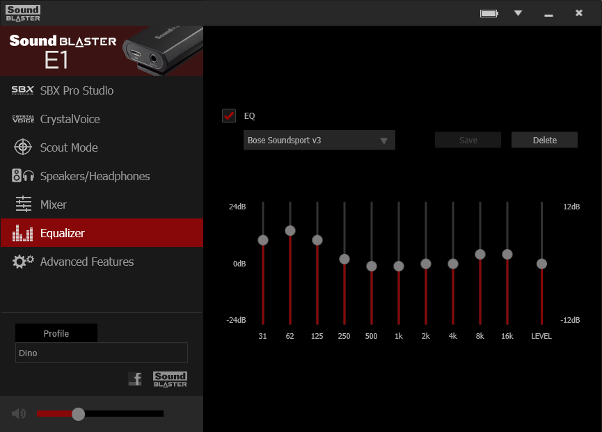 Version 3 of the EQ Settings for my Bose Soundsport Wired earphones