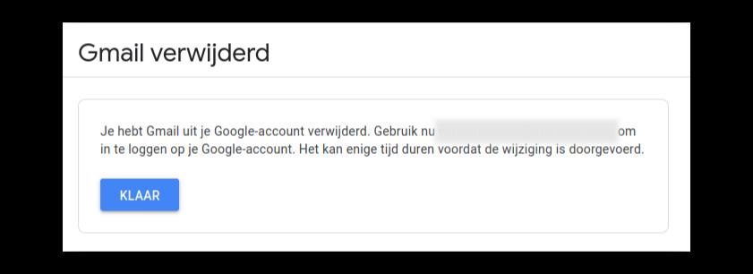 Gmail verwijderd