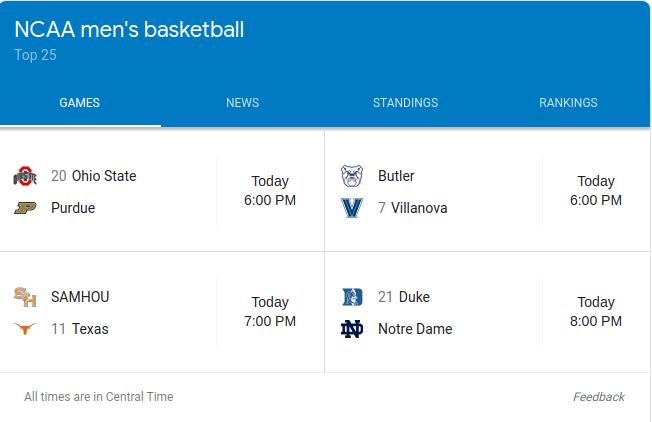 Tonight's basketball