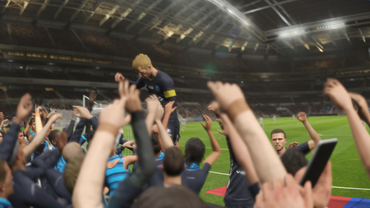 Celebration with the fans