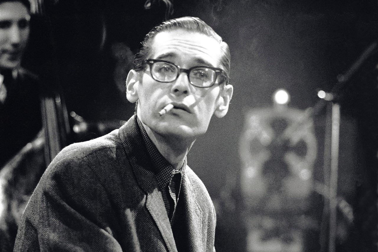 Bill Evans during rehearsal for BBC Television's _Jazz 625_ series, London, 1965. David Redfern.