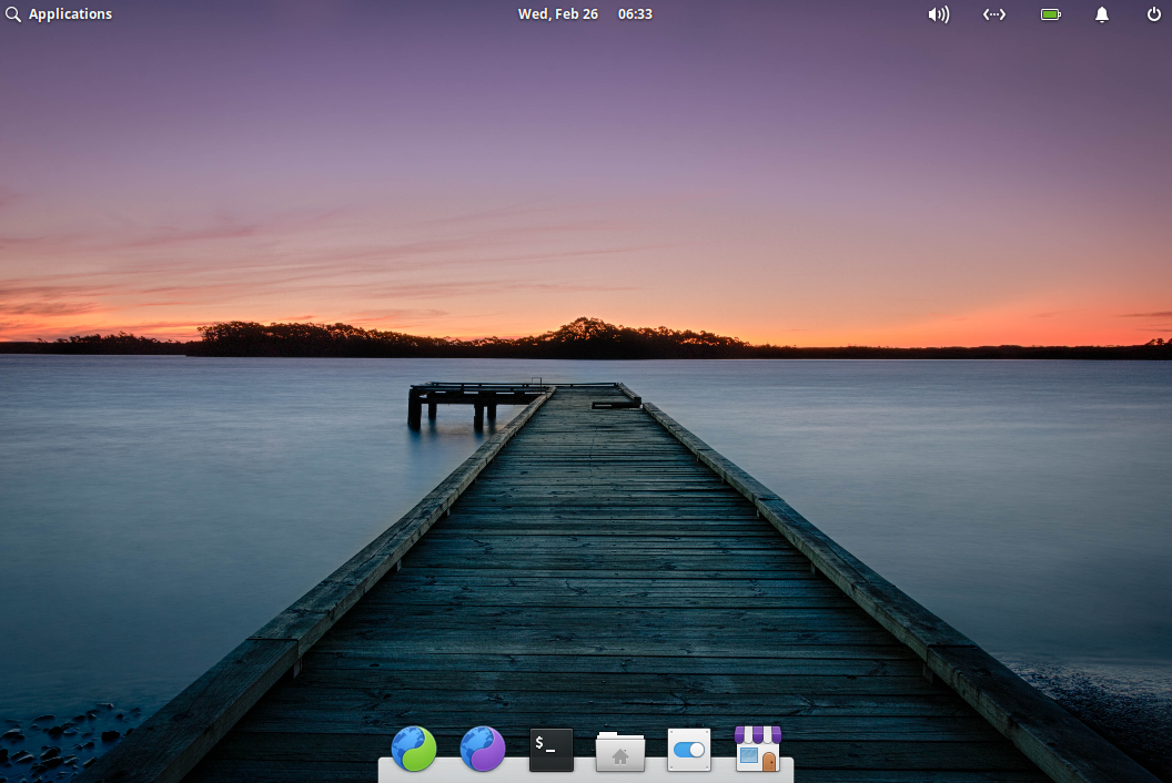The Elementary OS desktop