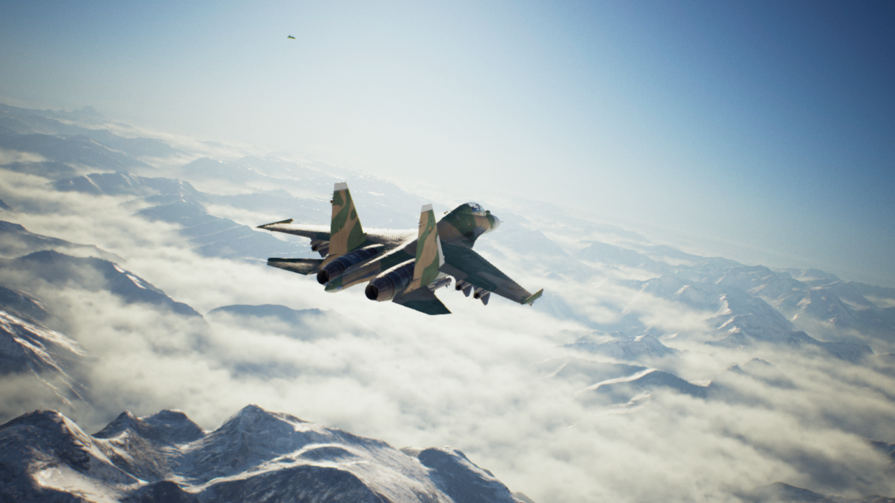 Su-30M2 Flanker-F2 flying over the Waiapolo Mountains