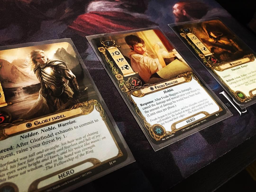 Glorfindel, Frodo and Aragorn