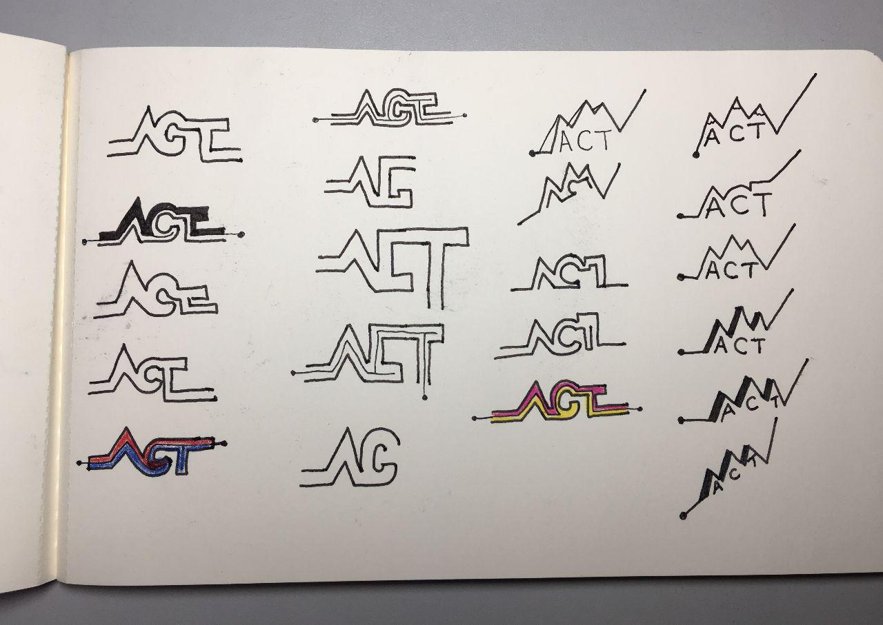 Hand sketched logo ideas