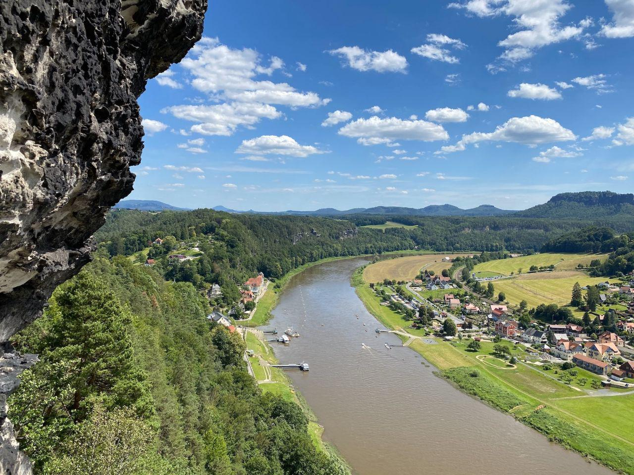 Rathen lays on two sides of Elbe.
