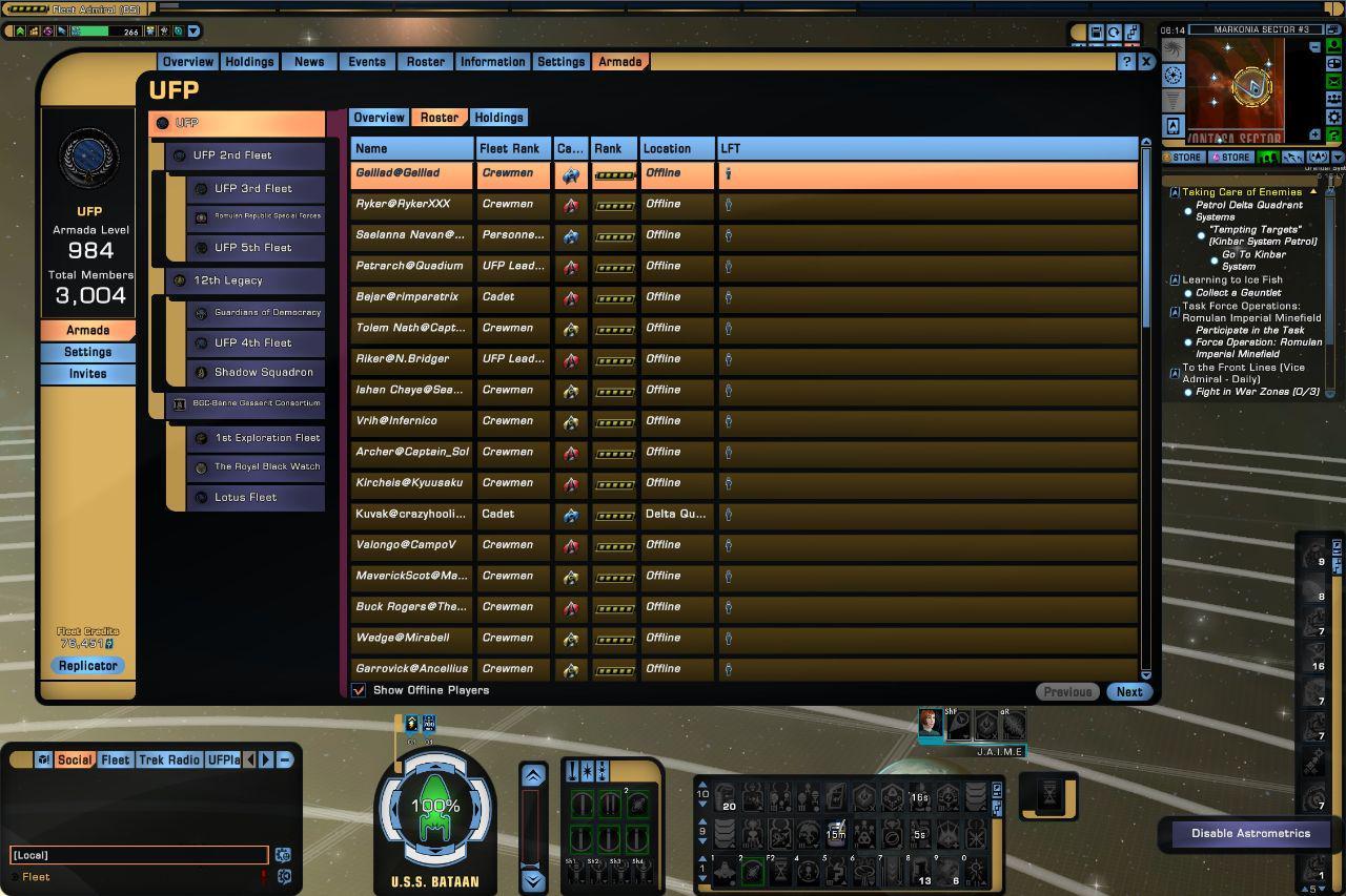 UFP Fleet Roster