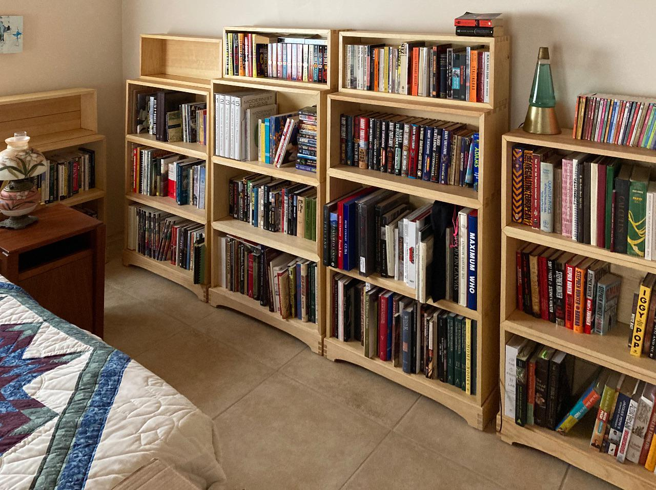 Jefferson Bookcases, with books