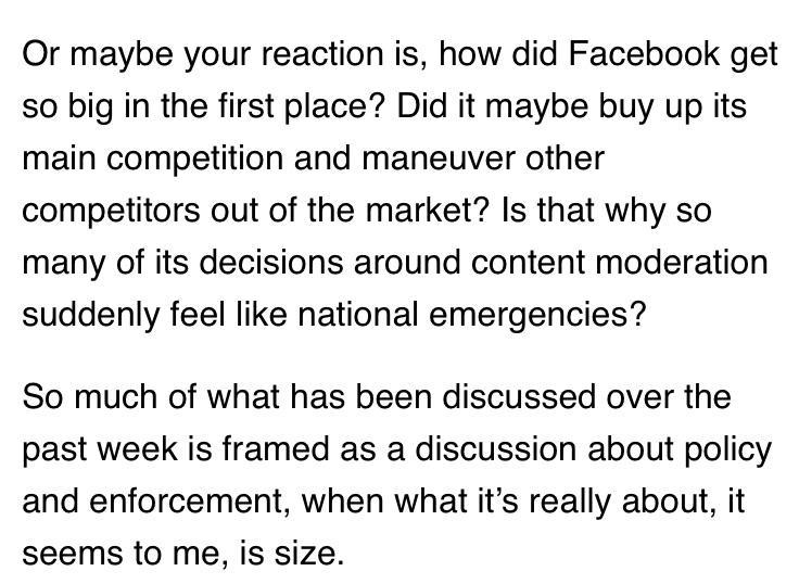 Casey Newton on the big companies ban on Facebook.