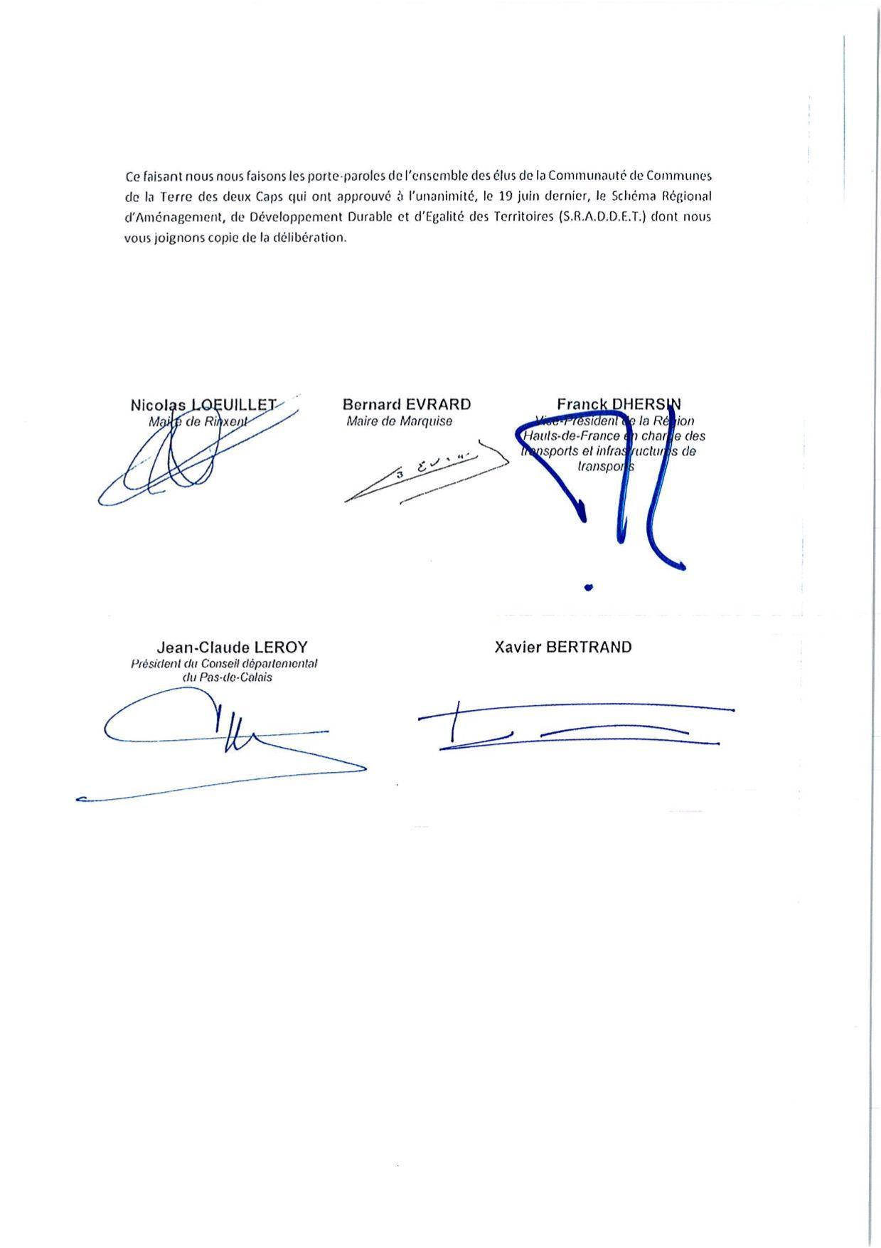 Page 2 de la lettre ouverte