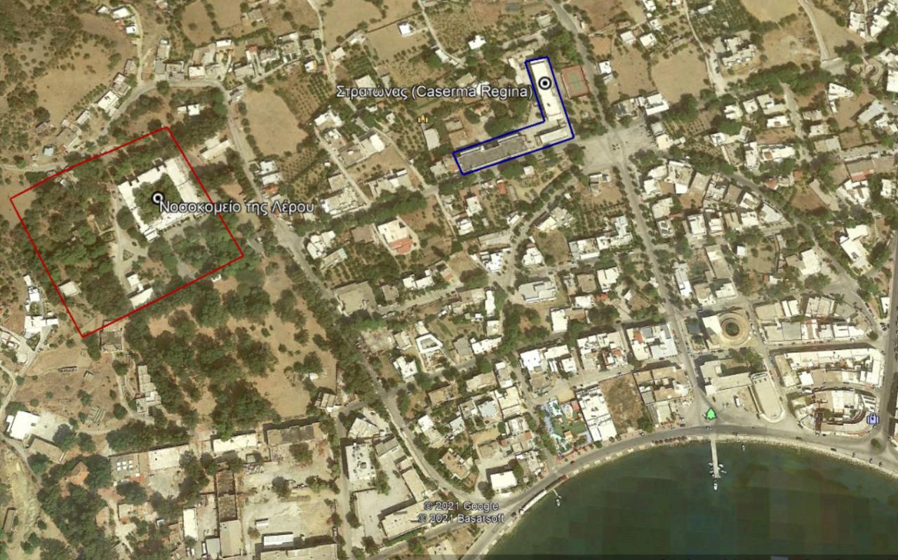 Η θέση της Caserma Regima στο Porto Lago