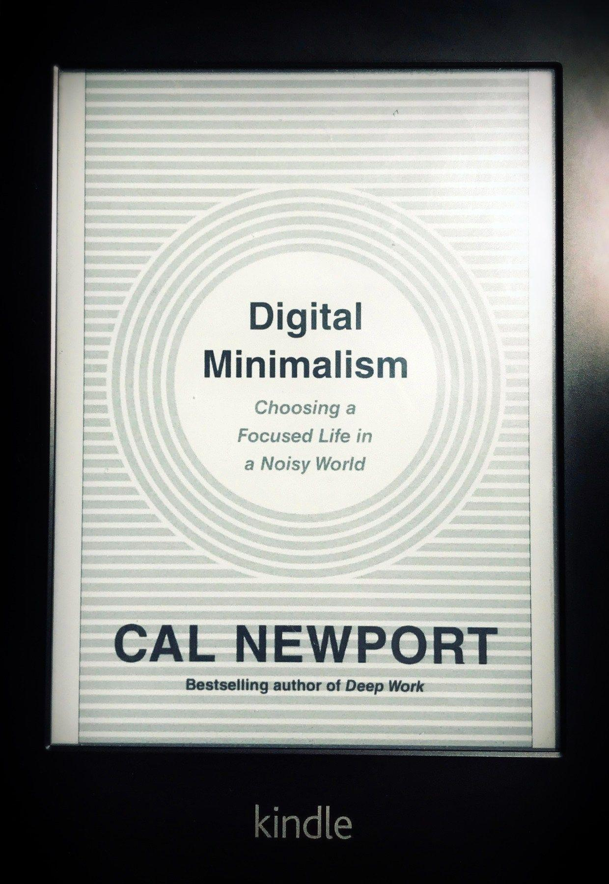 Digital Minimalism cover on my Kindle