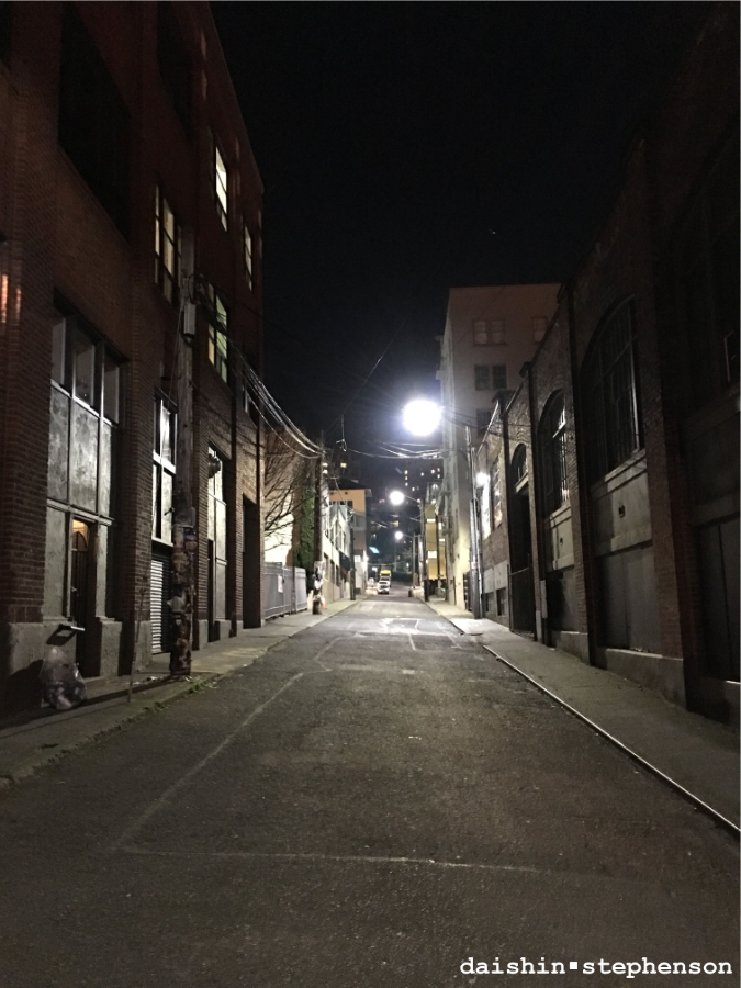 city alley at night