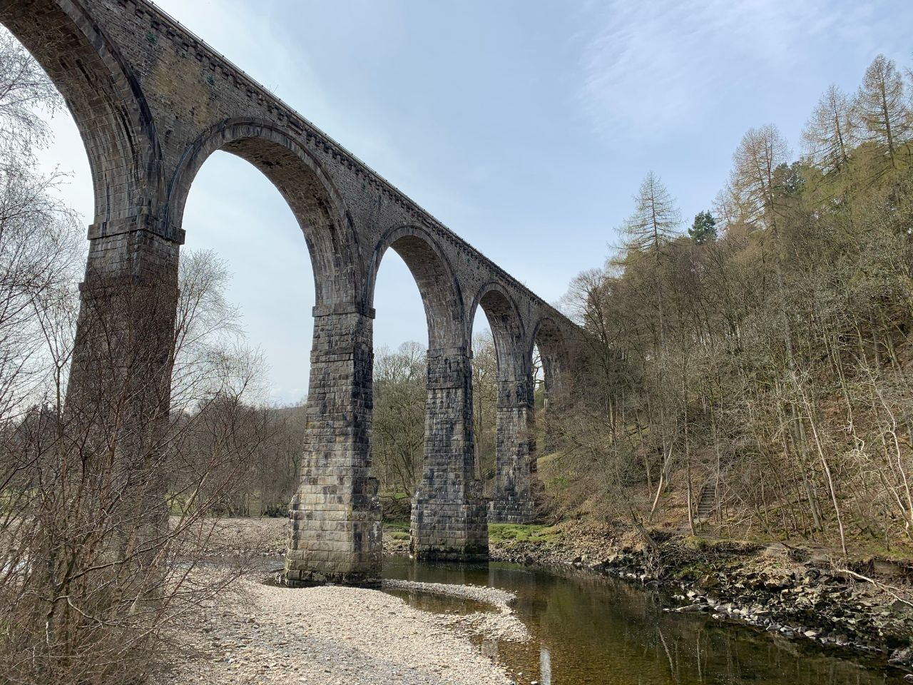 Lambley Viaduct from below