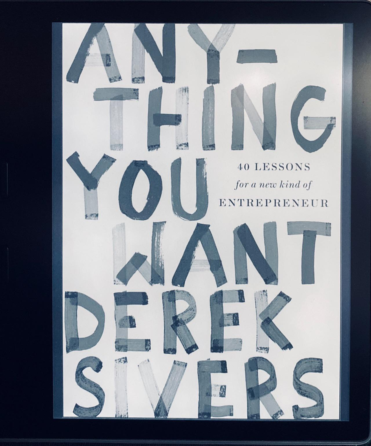 Anything you want-Derek Sivers