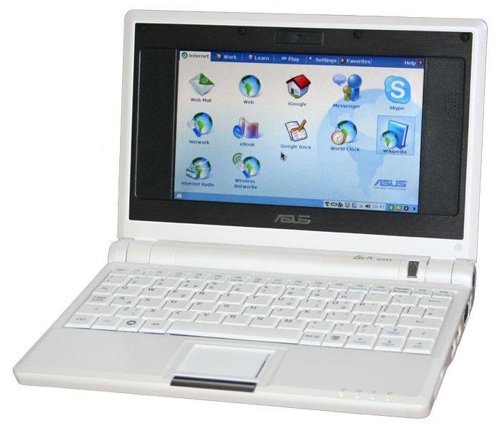 An Asus Eee PC netbook
