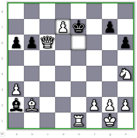 White wins