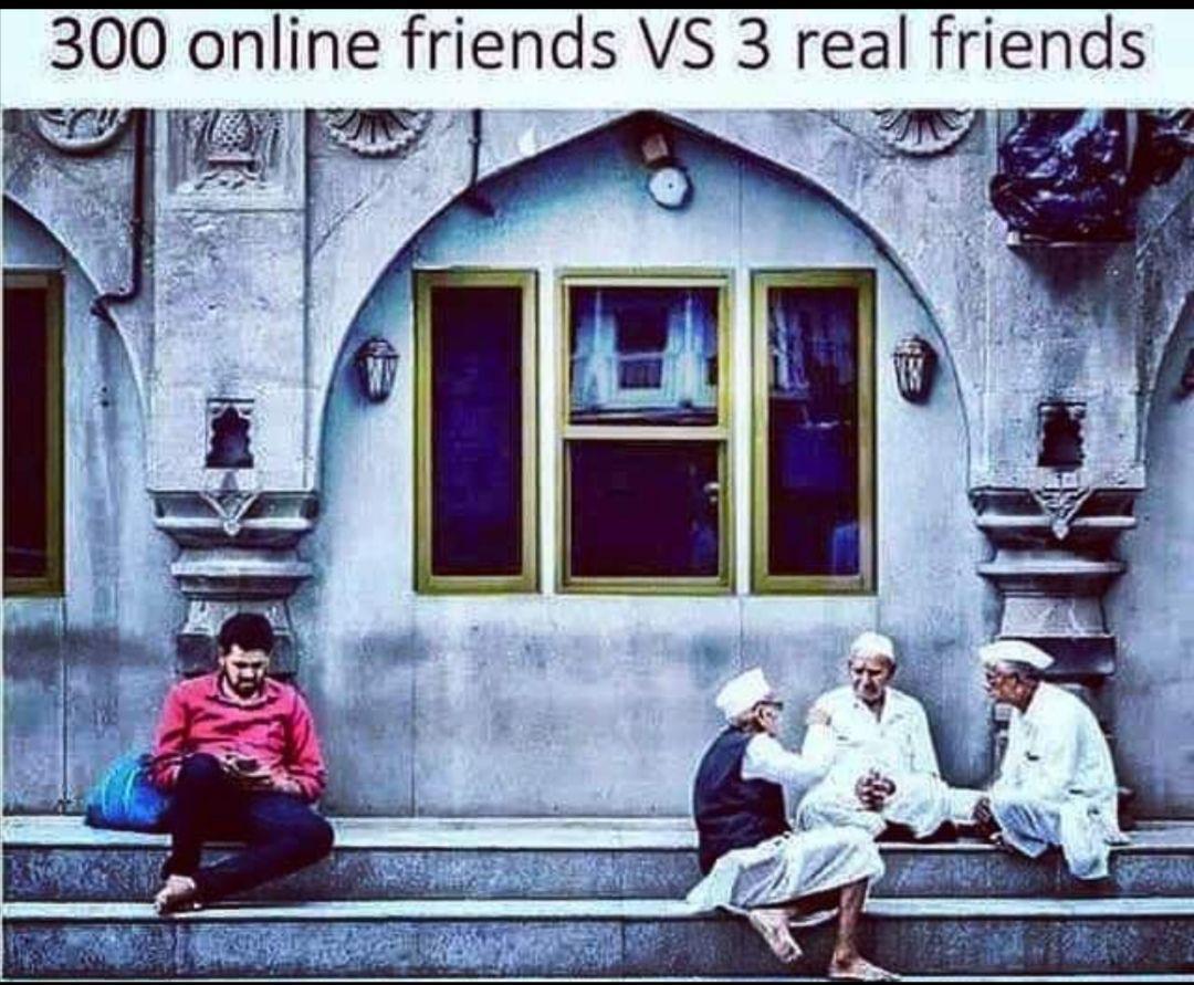 300 online friends vs 3 real friends