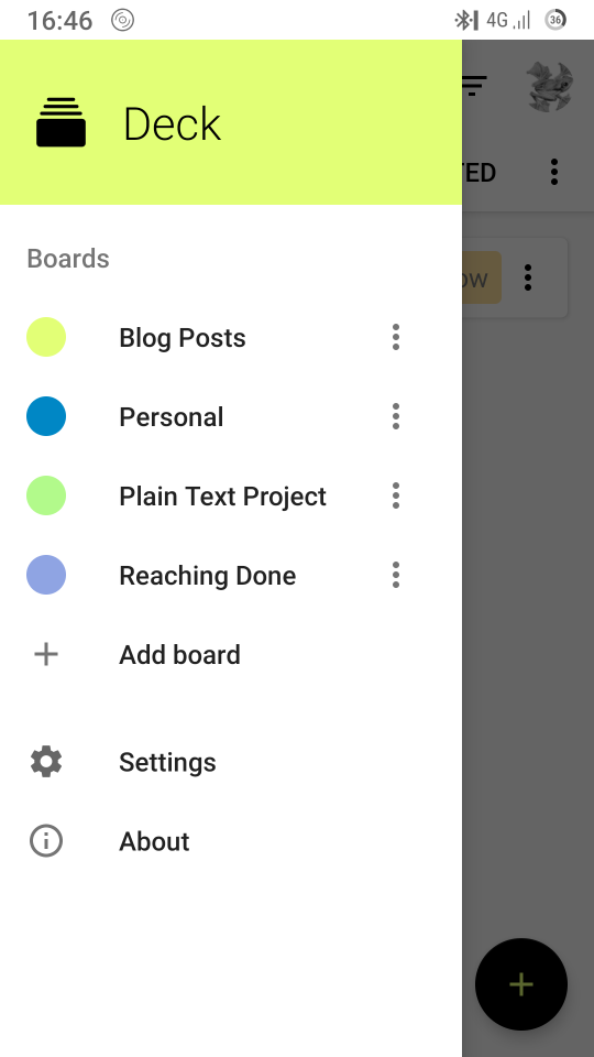 Viewing boards in the Nextcloud Deck app for Android