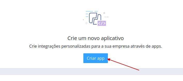 crie um app, é simples