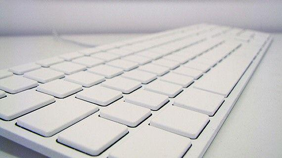 Essel's white keyboard