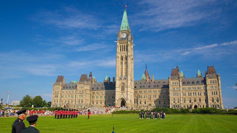 The Peace Tower in Ottawa, Canada.