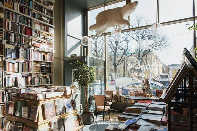 The interior of a bookshop