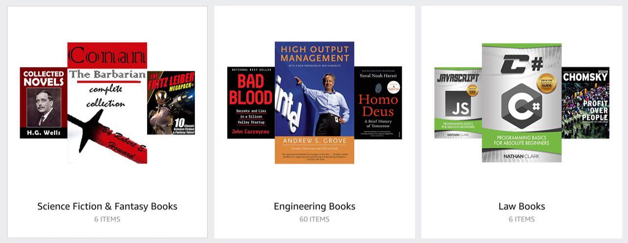 Amazons idea of Engineering books and Law Books.