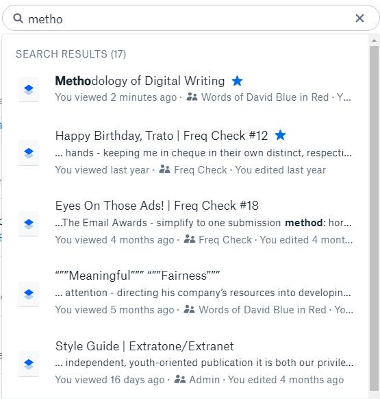 Dropbox Paper Search