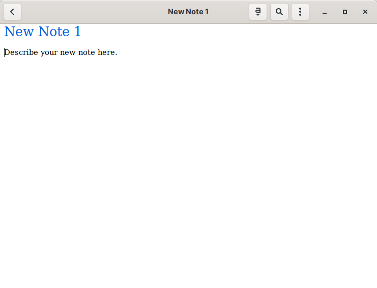 A new note in Gnote