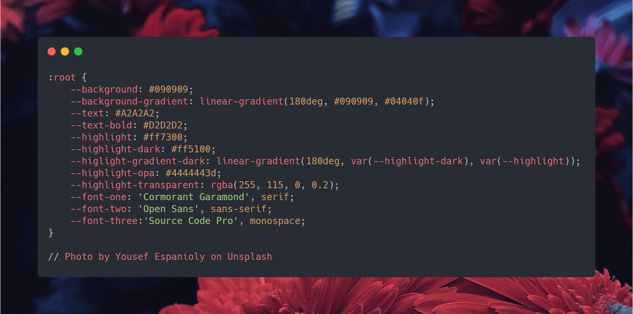 CSS variables