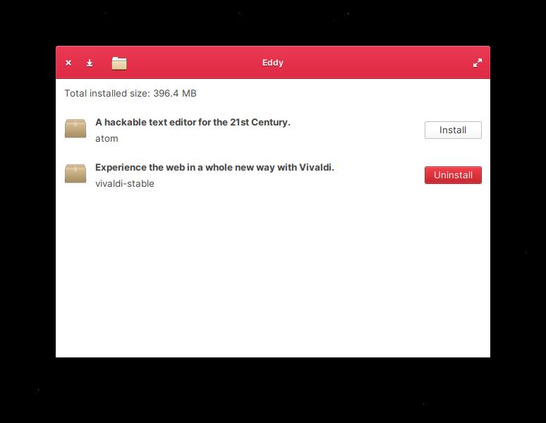 Managing .deb files with Eddy