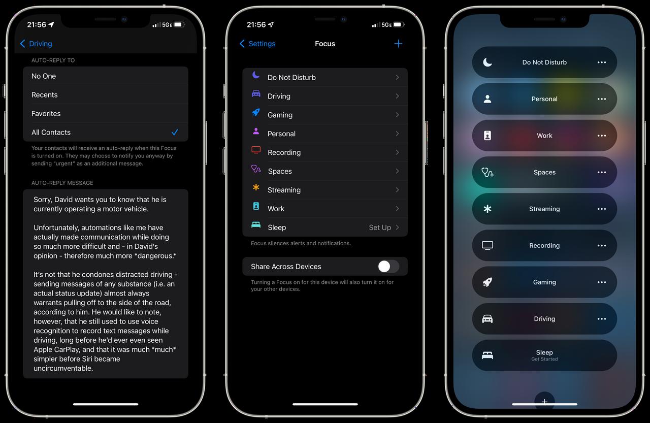 Focus in iOS 15
