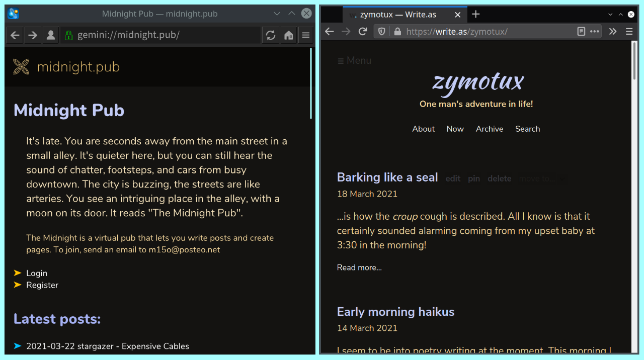 Screenshot 1 of new theme, 22 March 2021
