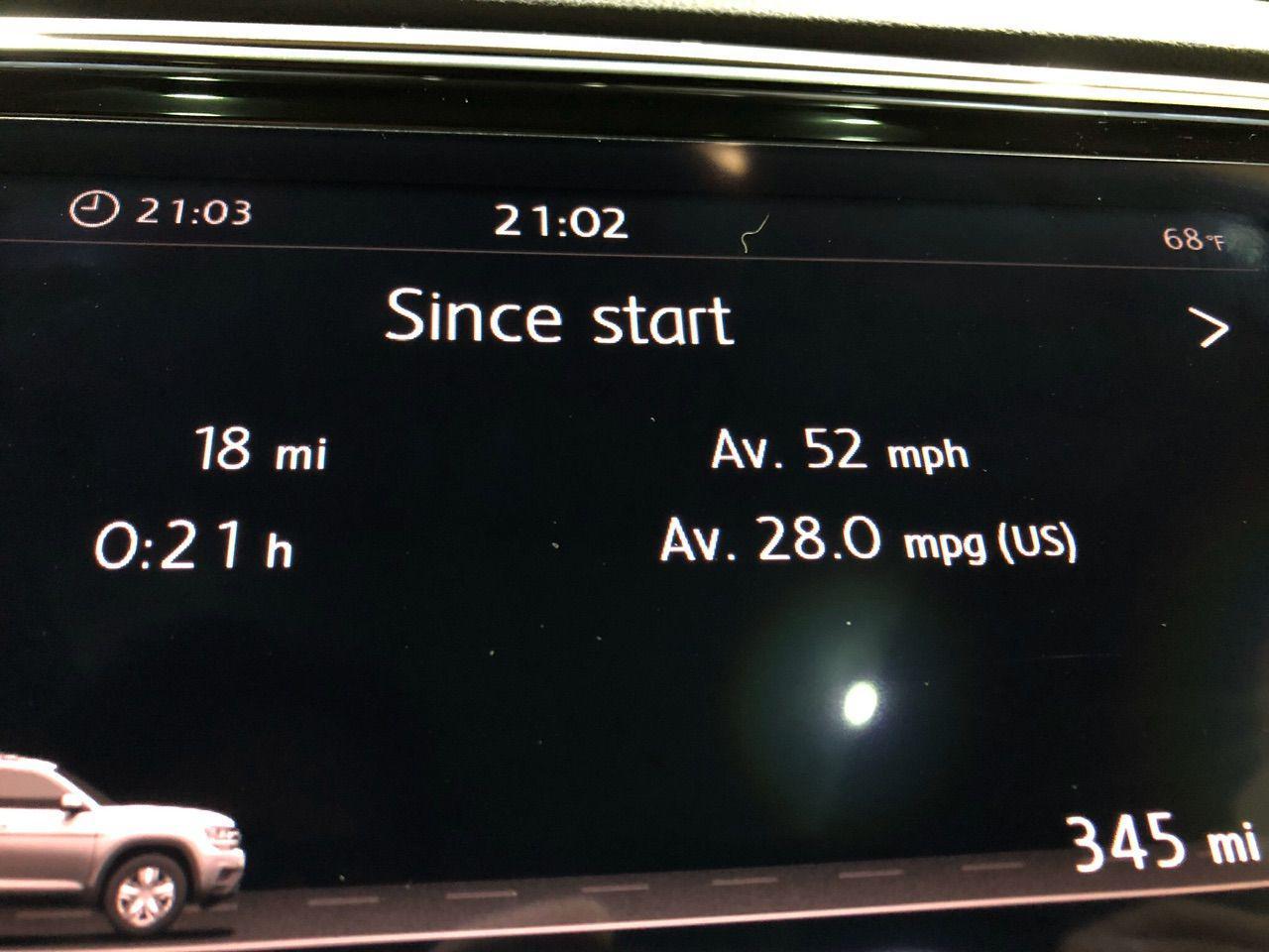 2019 VW Atlas V6 28 mpg