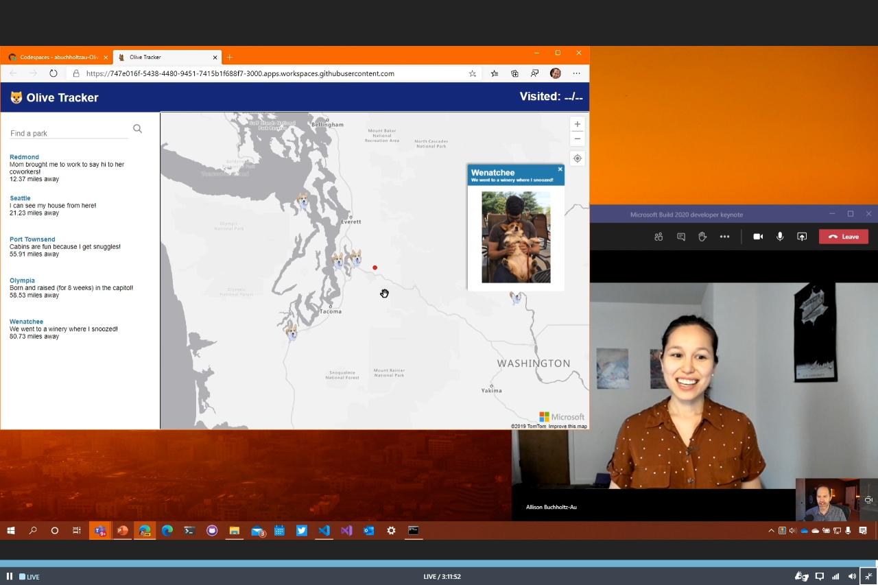 Microsoft Build Olive Tracker