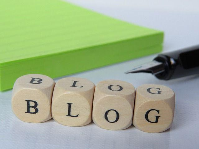 BLOG spelled out in blocks