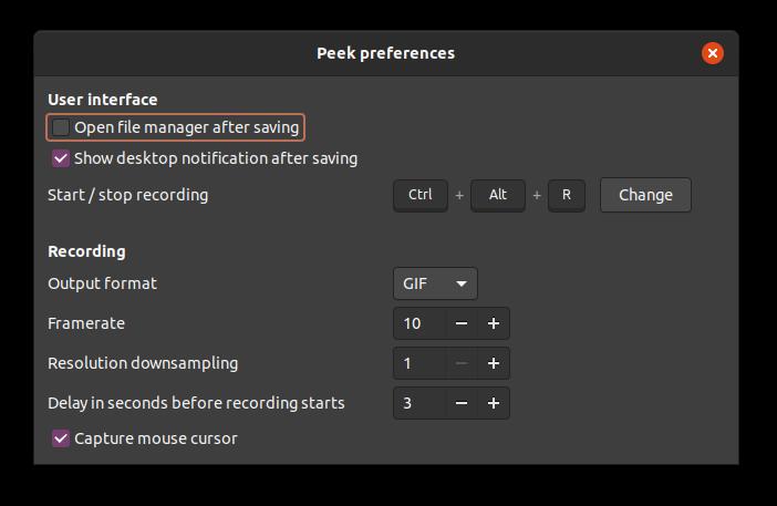 Peek's preferences