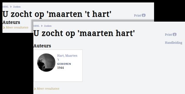 U zocht op Maarten