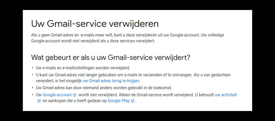 Uitleg Gmail Verwijderen