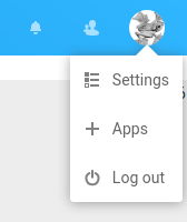 Accessing your apps in Nextcloud