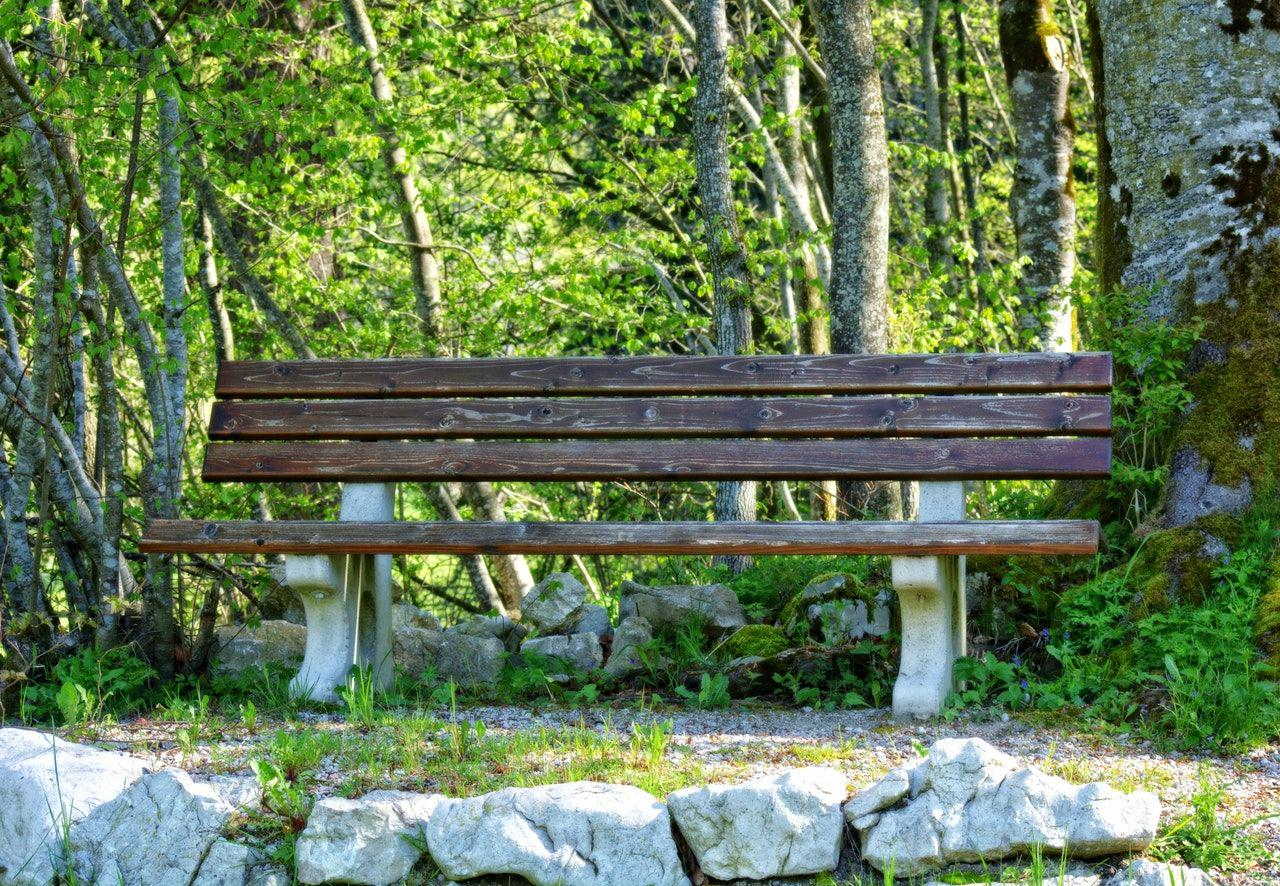 Endless possibilities, illustrated by a bench.